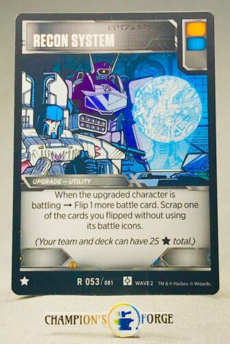 Transformers TCG Rise of the Combiners Recon System #R 053 Rare