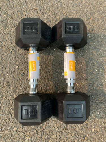 40LB 15 30 NEW CAP COATED RUBBER HEX DUMBBELLS select-weight 10