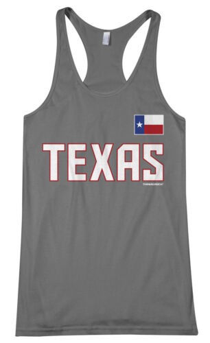Threadrock Women/'s Team Texas Racerback Tank Top America State Flag Sports