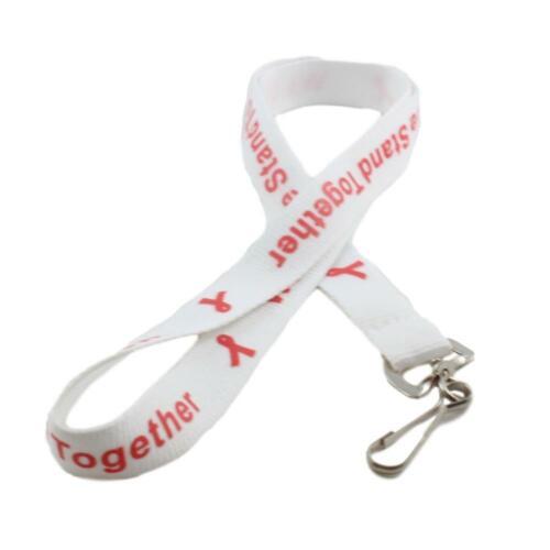 Red Ribbon Awareness Lanyard