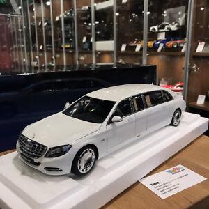 Autoart 1 18 Mercedes Maybach S 600 Pullman White 76296 Ebay