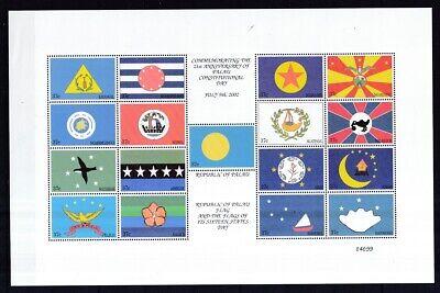 Sparsam Palau-inseln 2002 Postfrisch Zd-bogen Minr. 2103-2119 Flaggen Der Einzelstaaten Chinesische Aromen Besitzen