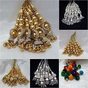 Indian Waist Hanging Jewellery Gold Tassels Latkan Dangles Saree Lengha Keychain