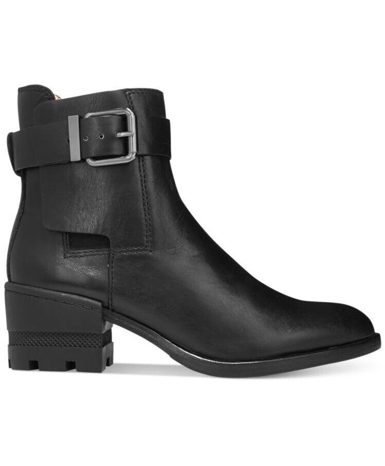 alta qualità generale Carolinna Espinosa Conner Lug nero nero nero Leather stivali avvioies Chunky Heel 7.5  365  la vostra soddisfazione è il nostro obiettivo