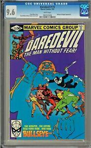 Daredevil-172-CGC-9-6-White-Bullseye-Kingpin-app-Frank-Miller
