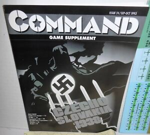 BOARD-WARGAME-Mag-Command-24-Czechoslovakia-1938-What-if-Start-of-WW2-op-1993