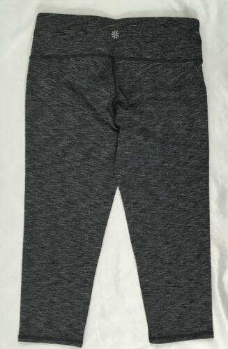 Athleta Women/'s Mid Rise Chaturanga Legging Capri pilayo Heather Noir Taille XXS