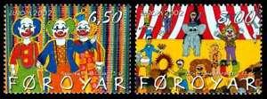 Faroe-Islands-2002-Europa-Circus-Clowns-Ring-etc-MNH-UNM