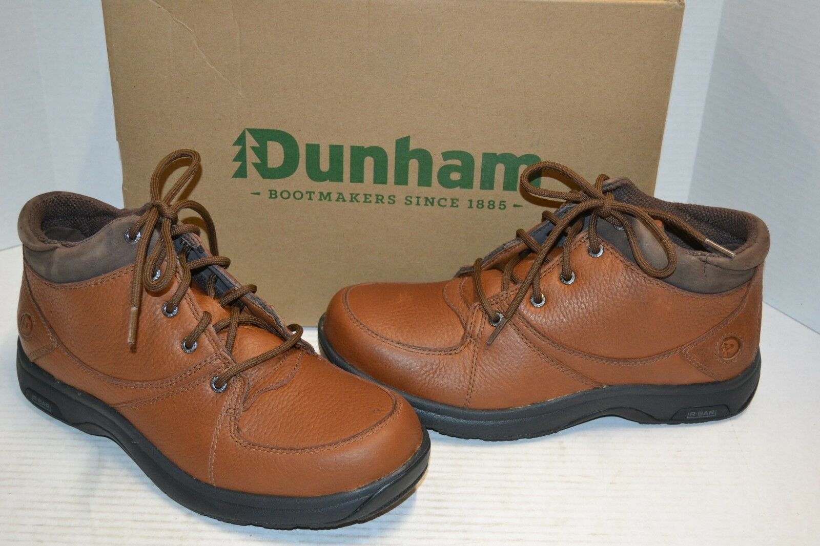 Dunham Men's Addison 8006BR Mid Cut Waterproof Boot SHOE LEATHER Brown 12 6E
