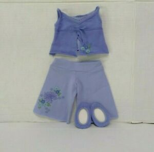 American Girl Grace Thomas PAJAMAS pjs top pants slippers hairtie        NO DOLL