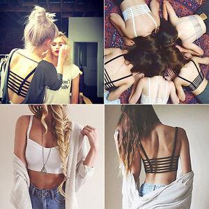 Women-Hot-Bralette-Caged-Back-Cut-Out-Strappy-Padded-Bra-Bralet-Vest-Crop-Top
