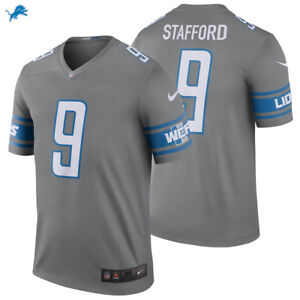online retailer f9b94 ff899 Details about NEW NFL Matthew Stafford Detroit Lions Nike Color Rush Legend  Jersey #9 NWT Gray