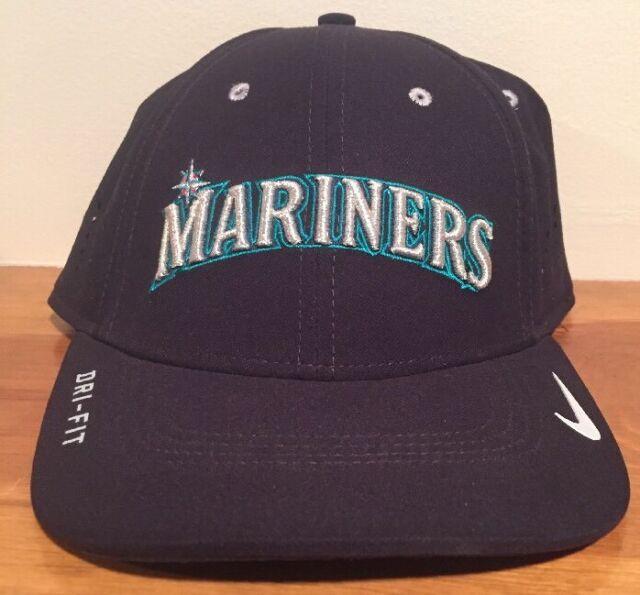 6b0618de45c46 Nike Seattle Mariners MLB Vapor Swoosh Flex M l Hat Cap GD for sale ...