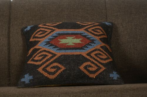 Decorative Square Pillows  Handwoven Kilim Pillows hand loomed Cushions 1182