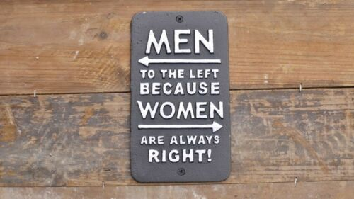 /'Women Right/' Retro Cast Iron Sign Ideal for Garden or Hallway 3709
