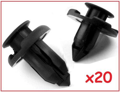 20x Honda Plastic Rivet Retainer Bumper /& Trim Clips 8mm 10mm Civic Accord