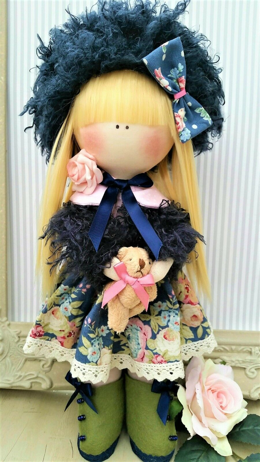 Rag doll Handmade in UK Tilda doll Ooak doll Art doll SOPHIA 12.5 inches tall