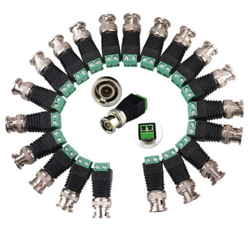 Screw Terminal Coaxial Cat5 Cat6 to CCTV Camera BNC Female Video Balun Adapter