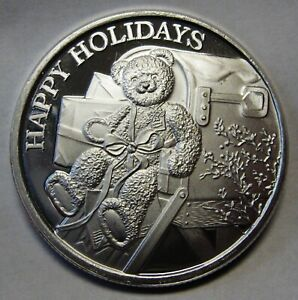 2019 Christmas One 1 Ounce Round .999 Pure Silver BABY/'S FIRST CHRISTMAS