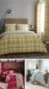 Catherine-Lansfield-Kelso-Housse-Couette-Reversible-Literie-Ensemble-Lit-Ou
