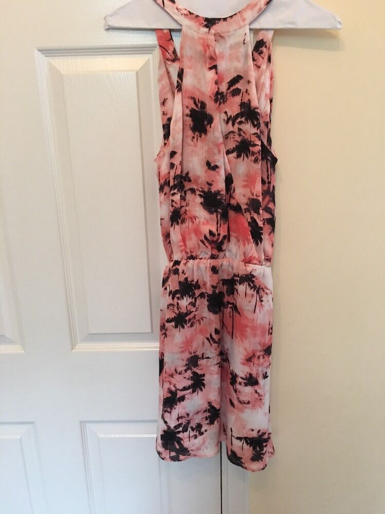 PARKER SZ S Multi colord Abstract Abstract Abstract Print Double Layer Silk Dress NWT  253 aece29