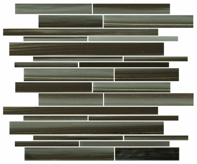 Starry Night Hand Painted Linear Glass Mosaic Tiles - Backsplash/Bathroom Tile