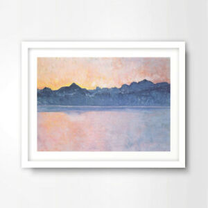SEA-OCEAN-SEASCAPE-SUNSET-HORIZON-PAINTING-ART-PRINT-Decor-Wall-Picture-10Size