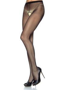 7e4a8fc88c5 Leg Avenue 1905 Sheer Black Nylon Crotchless Pantyhose O s for sale ...
