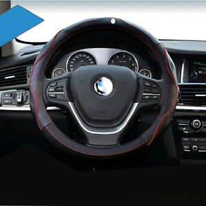 Car Genuine Leather Steering Wheel Cover Fit Bmw X5 X6 X3