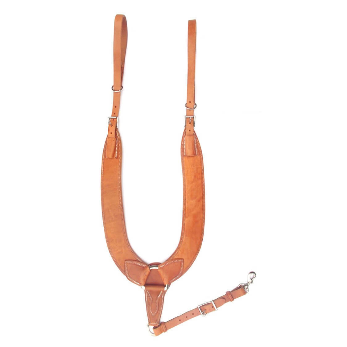 New Western Heavy Duty Herman Oak Harness Leather Pulling Breast Collar