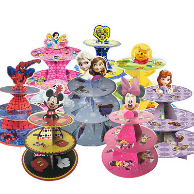 Kids Birthday Party Cupcakes Stand Supplies Cartoon Characters Party Decorations Ebay