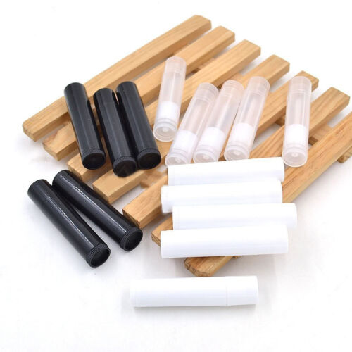 5X-New-Empty-Lip-Balm-Tubes-Containers-Black-White-Clear-DIY-Tool-Free-Shipping