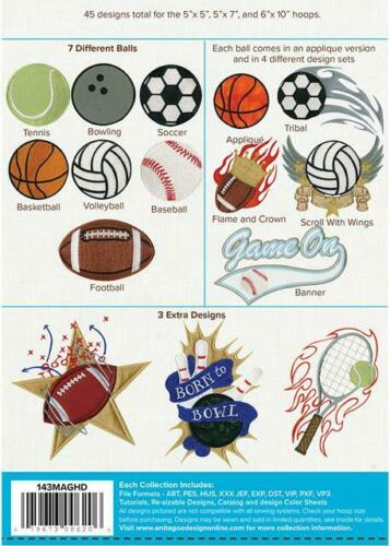 Sports Anita Goodesign Embroidery Machine Design CD