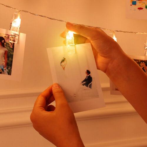 LED Lichterkette Foto Clips Klammern indirektes Stimmungslicht Photo Clip Deko