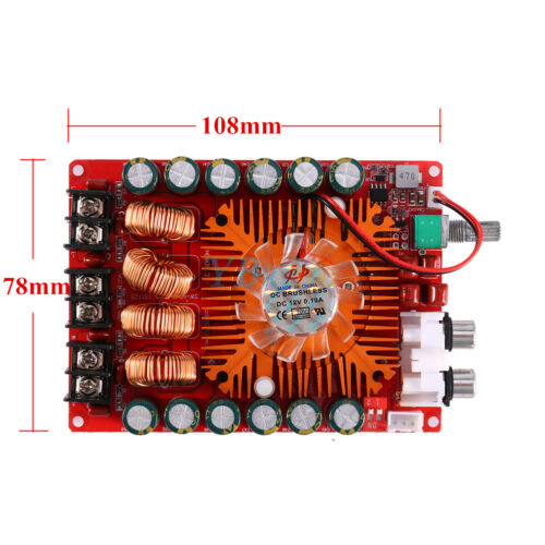 TDA7498E 160W x2 Two Channel Audio Power Amplifier Board Module 108 x 78mm SP