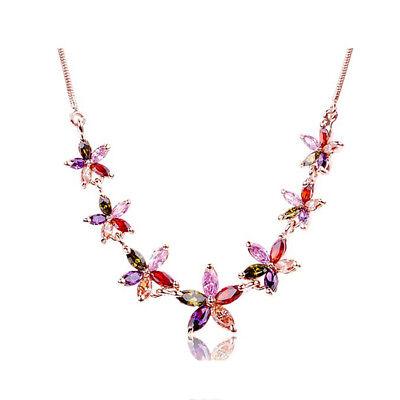 Asamo Damen Halskette Mit Blüten Anhänger Mit Swarovski Elements Blumen Zh1024 Gute Begleiter FüR Kinder Sowie Erwachsene