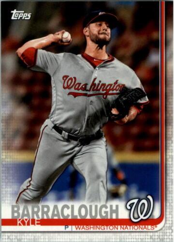 2019 Nationals Topps Baseball Card Pick