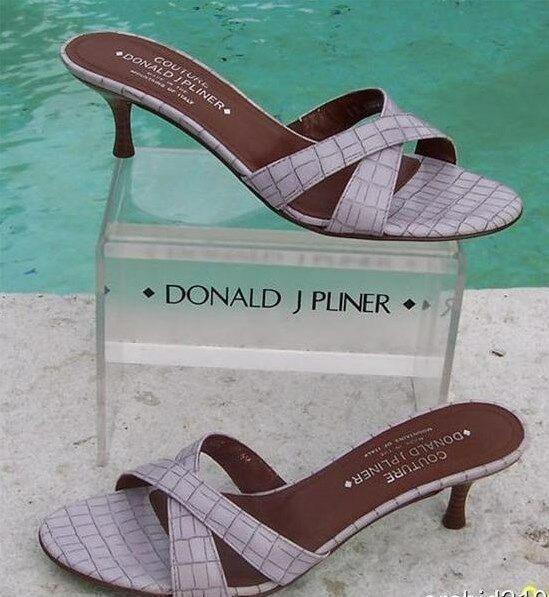 Donald Pliner Couture Shoe Kogi Gator Leather Sandal Shoe Couture New Slide Strapy  225 NIB cd5e0f