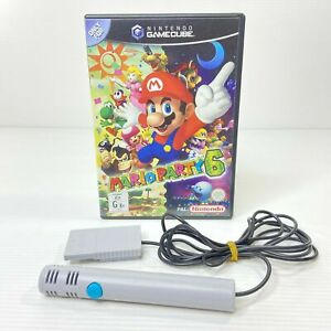 Mint Disc Nintendo Gamecube Mario Party 6 + Genuine Microphone - PAL - AUS