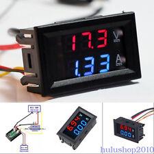 """DC 0-100V 10A Dual LED Digital Voltmeter Ammeter Voltage AMP Power 0.28"""" Display"""