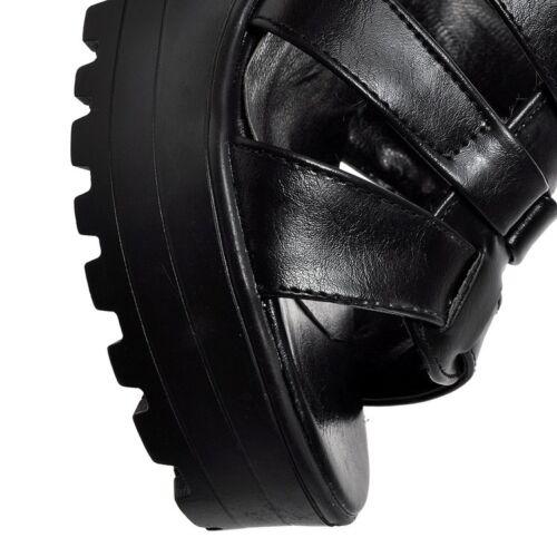 Fashion Women Open Toe Roman Style High Block Heel Platform Sandals Shoes Size 8