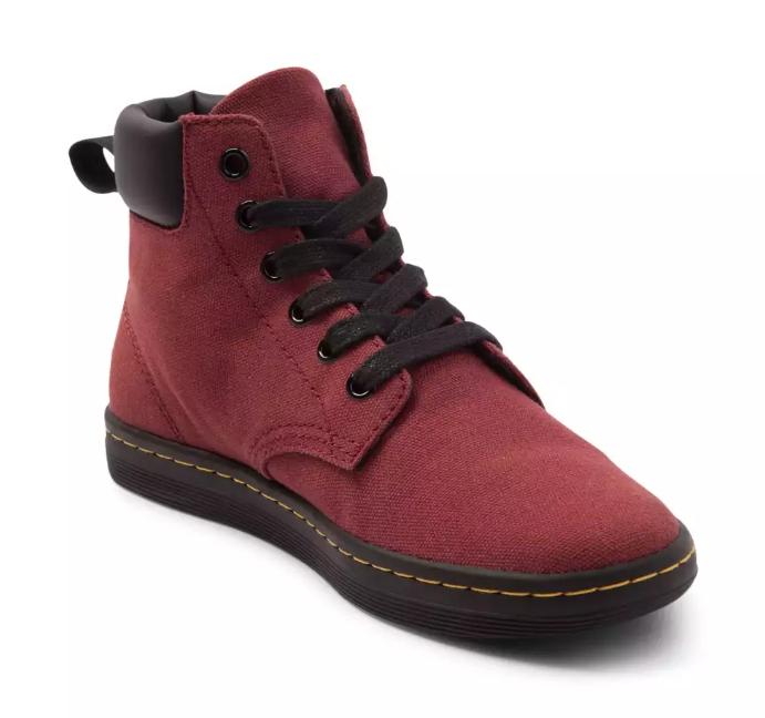 autorizzazione ufficiale New Dr Dr Dr Martens donna Maelly Cherry rosso Canvas Ankle stivali Dimensione 6  vanno a ruba