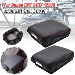 Microfiber-Leather-Center-Armrest-Box-Surface-Cover-For-Honda-CRV-2017-2018