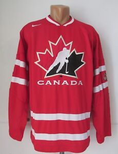 new style b9eb3 972df Details about TEAM CANADA ICE HOCKEY JERSEY SHIRT 2008/2009 NIKE IIHF PATCH  RED SIZE M MEN'S