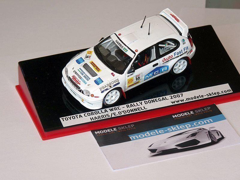 Toyota corlla wrc harris o 'donnell rallye donegal 2007 irish tarmac rallye