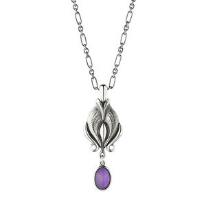Georg jensen heritage pendant of the year 2012 with amethyst ebay image is loading georg jensen heritage pendant of the year 2012 aloadofball Images