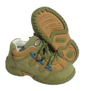 Kinderschuhe-Jungen-Schuhe-Leder-beige-olive-Spielschuhe-robust-Sneaker-NEU-22