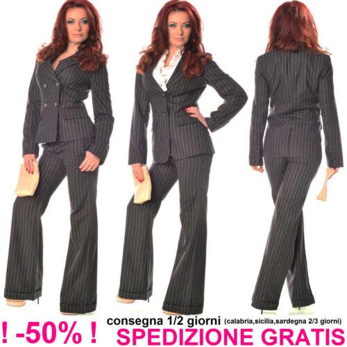 Cerimonia Grigio Donna Business Giacca Blazer Scuro Elegante Da Ufficio Gessata xPwt8WqXXB