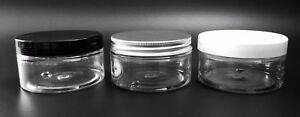 100ml-Clear-Empty-Pots-Jars-Containers-Tub-storage-amp-cosmetic-lotions-creams