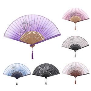 HAND HELD FOLDING FAN PLASTIC /& LACE PERIOD COSTUME SUMMER DANCE Purple